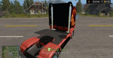 Мод Scania R1000 FIRE Farming Simulator 2017