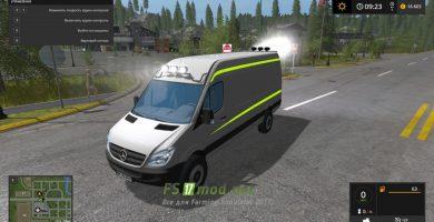 Автомобиль MERCEDES BENZ SPRINTER 2010 для игры Симулятор Фермера 2017