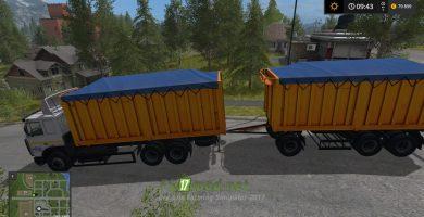 Грузовик МАЗ-6303 и прицеп для игры Симулятор Фермера 2017