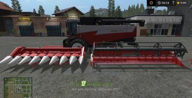 Комбайн Акрос595 для Farming Simulator 2017
