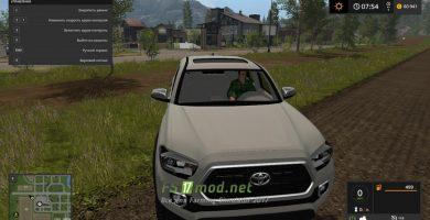 Автомобиль Toyota Tacoma 2016 для игры Фермер Симулятор 2017.