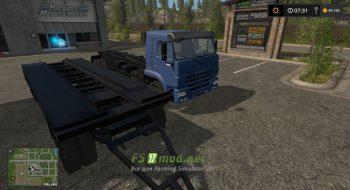 Мод на КамАЗ 658667 и Прицеп T83090 для Farming Simulator 2017
