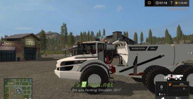 Мод на грузовик VOLVO A40G WHITE BY TFSG