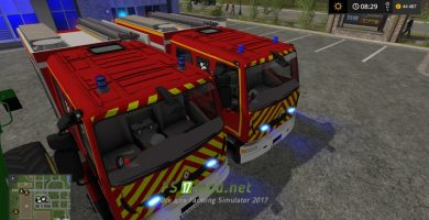 Мод на пожарную машину для игры Симулятор Фермера 2017