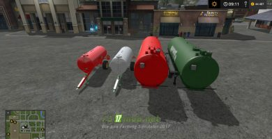 Мод на бункеры LIQUID STORAGE PACK для игры Farming Simulator 2017