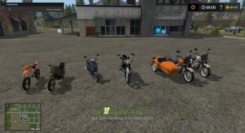 Пак мотоциклов для игры Фермер Симулятор 2017