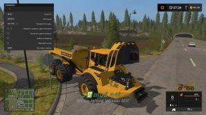 Мод на грузовик VOLVO A40G для Farming Simulator 2017