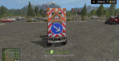 Мод на прицеп TRAFFIC SAFETY TRAILER (VSA) WITH A LIGHTIN