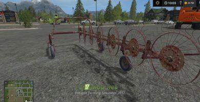 Валковая жатка AGROMET FAMAROL Z211 для Farming Simulator 2017