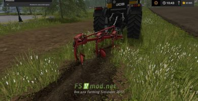 Мод на плуг BOMET 3 SKIBOWY для игры FARMING SIMULATOR 2017