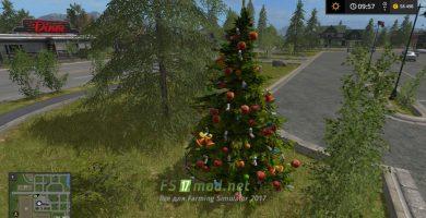 Мод на CHRISTMAS TREE для игры Фермер Симулятор 2017