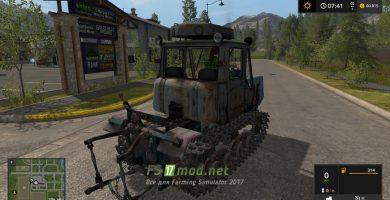 Трактор на гусеницах ХТЗ Т-150 для игры Симулятор Фермера 2017