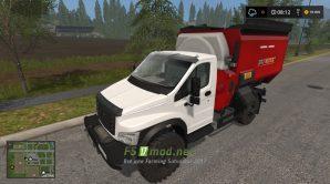 Мод на Грузовик ГАЗ NEXT 4Х4 Миксер-кормороздатчик для игры FS 2017