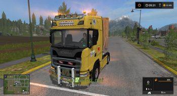Мод на грузовик SCANIA S580 V8