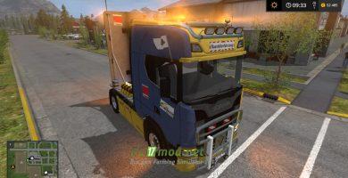 Мод на грузовик SCANIA S580 V8 для игры Симулятор фермера 2017