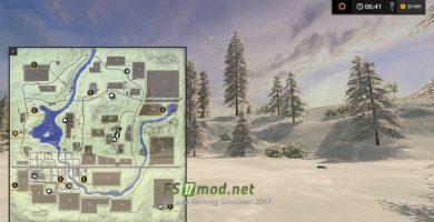 Карта GOLD CRESTY VALLEY SNOW EDITION