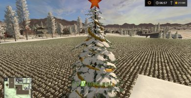 Мод CHRISTMAS TREE для Farming Simulator 2017