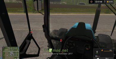 MTZ 1221 вид из кабины