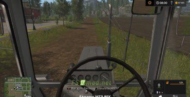 MTZ БЕЛАРУС 80С вид из кабины