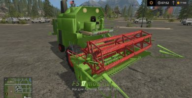 Комбайн CLAAS MERCATOR для Farming Simulator 2017