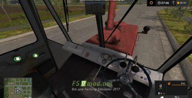 HTZ Т-150 вид с кабины