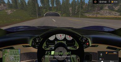 MCLAREN F1 SUPER CAR вид с салона