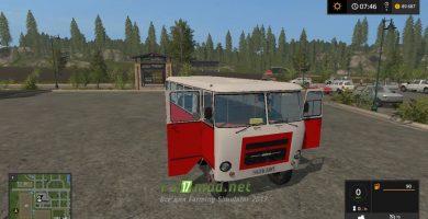 Мод на автобус Кубань для Farming Simulator 2017