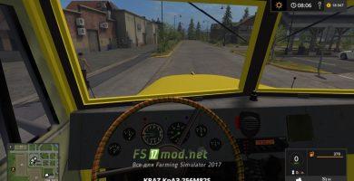 КРАЗ-256 Вид из кабины