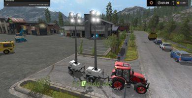 Мод на CONSTRUCTION LIGHT TRAILER для игры Фермер Симулятор 2017
