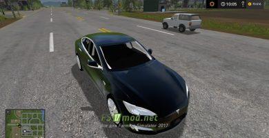 Автомобиль TESLA MODEL S 2017 для игры Симулятор Фермера 2017