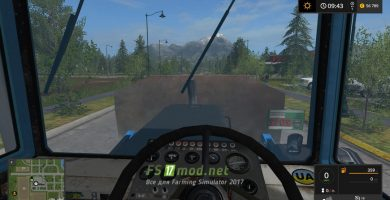 ХТЗ-181 вид с кабины