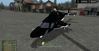 Мод на AIRWOLF SUPERCOPTER TFSGROUP для игры Farming Simulator 2017