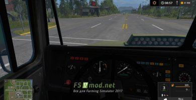 КРАЗ-6510 вид с кабины
