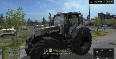 Трактор NEW HOLLAND T7 TIER4A для игры Фарминг Симулятор 2017