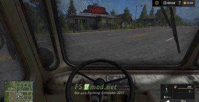 ГАЗ 66 вид с кабины
