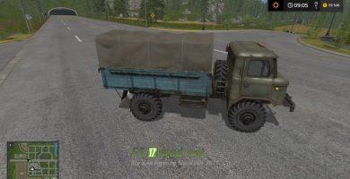 Модификация на ГАЗ 66 для игры Симулятор Фермера 2017
