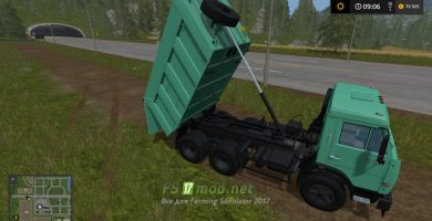 Грузовик Kamaz 65115 для Farming Simulator 2017