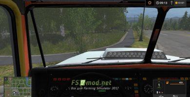 КРАЗ 6233 M6 вид с кабины