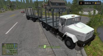 Тягач КРАЗ 6233 M6 Log truck