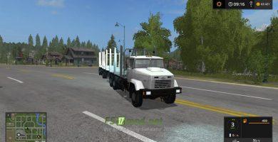 Тягач КРАЗ 6233 M6 Log truck для игры Farming Simulator 2017
