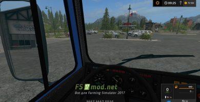 МАЗ 5516 вид из кабины