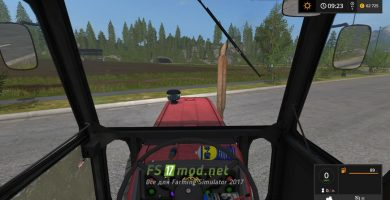 Universal 651M Turbo вид с кабины