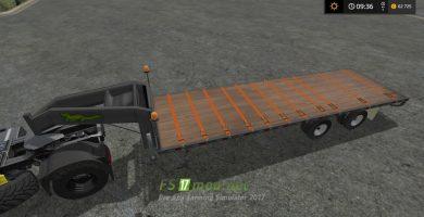 Seed tender trailer с ремнями