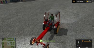 Мод на GT124 + Attachments для игры Farming Simulator 2017