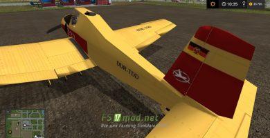 Мод на самолет Hummel Z-37 для игры Фермер Симулятор 2017