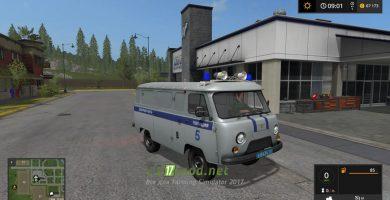 Мод на УАЗ Полицейский для игры Фермер Симулятор 2017