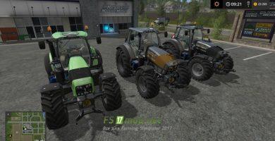 Трактор Deutz-fahr agrotron 7210 TTV warrior для Farming Simulator 2017