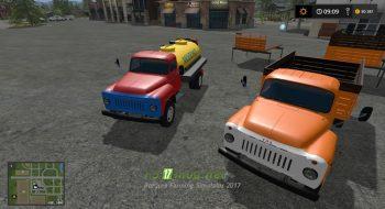 Мод на ГАЗ 53 и прицепы для игры Симулятор Фермера 2017