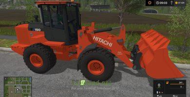 Мод на Hitachi ZW150-6 для игры Farming Simulator 2017