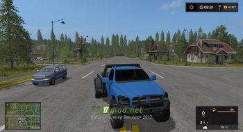 Автомобиль 2008 DODGE RAM Flatbed Edit для игры FS 2017